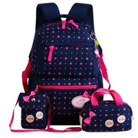 Wholesale cute backpacks for sale - Group buy Primary Schoolbag For Girls school Backpack Kids School Bags Teenager Dot Printing Backapck Rucksack Cute Mochila