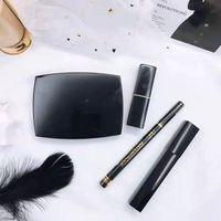 Wholesale black up lipstick resale online - A quality Dropshipping in makeup set Kollection matte lipstick eyeliner face powder mascara eye liner make up kit