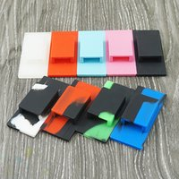 Wholesale phone covers stickers for sale - Silicone Cell Phone Holder Sticker Cover for JUUL Vape Pen COCO Holder Back Cases Rubber Sleeve Skin Wraps Single hole DHL Free