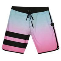männchen beachwear großhandel-Fashion-NEW 4Way Stretch Boardshorts Herren Spandex Badehose Surf Pants Boardshorts Herren Plus Size Beachwear Bermudas Shorts Casual Shorts