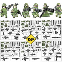 Wholesale mini brick figures for sale - Group buy Armed Troop CF Mini Toy Figure Jungle Commandos Camouflage Army Building Block Brick Military Toy