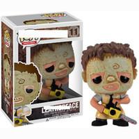 um pedaço dragão bola pvc venda por atacado-Nova chegada Funko Pop rosto couro Chainsaw assassinos Vinyl Action Figure com caixa de presente para as crianças brinquedo