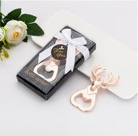 Wholesale wedding presents guests resale online - Opener Wedding Party Favors Baby Shower Deer Head Bottle Opener Elk Wedding Souvenir Alloy Present For Guests