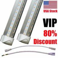 Wholesale t8 tube lights for sale - V Shaped ft ft ft ft ft ft Cooler Door Led Tubes T8 Integrated Led Tubes Double Sides Led Lights fixture Stock In USA