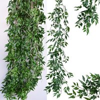Wholesale artificial hanging plant decoration wedding for sale - Group buy Artificial Fake Hanging Decorative Vine Plants Leaves Artificials Garland Flowers Wedding Wall Decoration