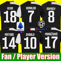 xxl 18 großhandel-Thailand sports RONALDO Juventus 2019 2020 Fußballtrikots DYBALA 18 19 20 EA Sports Fußball-Kit Hemd Spielerversion Meisterliga MÄNNER FRAUEN KIDS JUVE