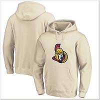 vente de chandails de hockey vierges achat en gros de-Nouveaux Sénateurs D'Ottawa Mens Vintage De Hockey Sur Glace Chemises Chandails Uniformes Hoodies Cousus Broderie Blanc Pas Cher Sport Pratique Maillots En Vente
