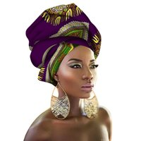 Wholesale african head wraps resale online - 100 Cotton cm Women African Head Wraps Traditional Head Wrap Handkerchief Scarf Kerchief Turban Dashiki Wax Fabric