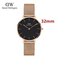 Wholesale strip watch fashion resale online - New Fashion Girls Steel strip Daniel Wellington watches mm women watches Quartz Watch Clock Relogio Feminino Montre Femme