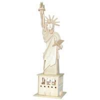modelos livres do enigma 3d venda por atacado-Frete grátis --- Puzzle De Madeira 3D Modelo de Simulação DIY Palácios Casas Estéreo Jigsaw Puzzle Crianças Brinquedo Unisex Mão