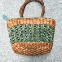 ingrosso pelle artistica-2019 New French Hand-woven Leather-wrapped Woman-wrapped Head Layer Vegetable Basket-wrapped Artistic Handbag