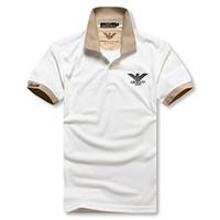 moda homens polo homens venda por atacado-Designer de Verão dos homens Polo T-shirt Bonito dos homens e das Mulheres de Manga Curta Buraco Redondo T-shirts Alfabeticamente Impresso Polo T-shirts de Moda