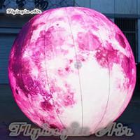 воздушные шары оптовых-Подгонянный большой мечтательный Раздувной шарик Луны освещая воздушный шар планеты с светом RGB для украшения партии танцев ночного клуба