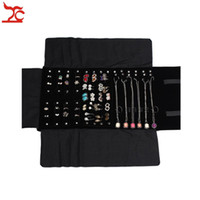 Wholesale necklace storage roll for sale - Group buy Big Sale Factory Direct Selling Multi function Velvet Jewelry Display Necklace Ring Earring Storage Case Jewelry Roll Bag