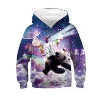 pandabild-sweatshirt großhandel-Neue Katze Panda 3D Print Mädchen Jungen Hoodies 2019 Winter Herbst Hoodies Kinder Kapuzenpullis Childres Pullover Tops