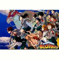 Wholesale wall anime poster for sale - Group buy Boku No Hero Academia My Hero Academia Japan Anime wall decor Art Silk Print Poster