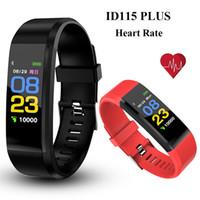 ingrosso attività della scatola-ID115 Plus Smart Braccialetto Intelligente Sport Wristband Fitness Activity Tracker Pedometro Monitoraggio della pressione arteriosa frequenza cardiaca per Android iOS in scatola