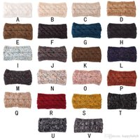Wholesale knitting crochet hair band resale online - Winter Girl Knit Headbands Warm ear warmer Crochet Elastic Hair Band Turban Styles Headwear Women Hair Accessories Gifts