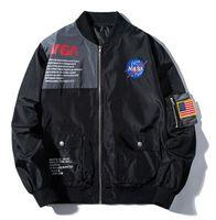 ingrosso giacca da baseball-NUOVA giacca bomber della NASA Ma1 Bombers Jacket Men KANYE WEST per Pilot Flight Jacket Uomo Cappotti da baseball Giacche militari yeezus