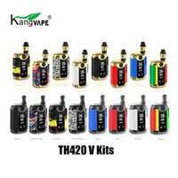 Wholesale genuine original battery resale online - 100 Original Kangvape TH420 V Starter Kit mAh Preheating Battery TH Vape Box Mod For Thread Thick Oil Cartridge Tank Genuine