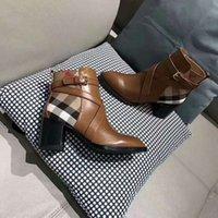 женские сапоги на высоком каблуке оптовых-Новые дизайнерские сапоги для женщин Модные и изысканные женские сапоги на высоких каблуках и натуральная кожа на открытом воздухе модные сапоги