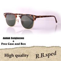 Wholesale womens black wrap for sale - Luxury Brand Designer Mens Womens Sunglasses plank frame Metal hinge Glass Lenses Cat Eye sun glasses uv400 Goggle With Case and box