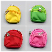 süße bjd puppen groihandel-Großhandel Nette Puppe Geldbörse Rucksack BJD Kleine Schultasche Reißverschluss Tasche Geldbörse Puppen Zubehör Multi Farbe 3 7sjH1