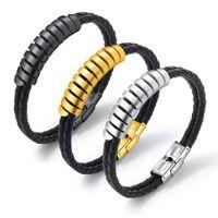 Wholesale titanium wrist watches for sale - Group buy AENINE Personality Double Men s Bracelet Simple Creative Titanium Steel Men s Bracelet Students Wrist Watch Accessories OPH1286