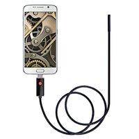 микропроволочная камера оптовых-AN99 2-в-1 USB Micro Разъем 8 мм Эндоскопа Бороскоп Инспекционная Проводная Камера