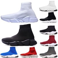 Wholesale Luxury Designer Shoes Speed Trainer Race Runners Running Shoes Triple Black White Flat Fashion Socks Boots Mens Women Sports Sneakers