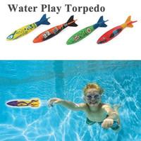 plaj seti oyuncakları toptan satış-4 adet açık plaj Havuz Su oyuncakları Dalış torpido atma oyuncaklar köpekbalığı Komik oyuncaklar Yaz aylarında Çocuklar erkek kızlar için