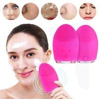 mini-gesichtsmaschine pinsel großhandel-Mini Elektrische Reinigung Massagebürste Waschmaschine Wasserdichte Silikon Gesichtsreinigungsgeräte C18122901