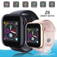 relógio inteligente para apple iphone venda por atacado-Z6 smartwatch para apple iphone smart watch bluetooth 3.0 relógios com câmera suporta sim cartão tf para android telefone inteligente pk dz09 a1