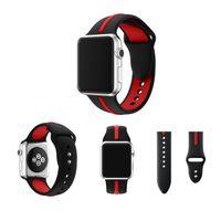iphone saat bantları toptan satış-Apple iPhone için iWatch Serisi 4 40mm / 44mm Yumuşak Silikon Bilek Kayışı Watch Band