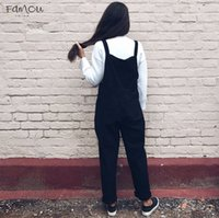 Wholesale polyester tracksuits for women for sale - Group buy For Overalls Women Dungarees Oversize Rompers Women Jumpsuit Solid Harem Tracksuit Trousers Playsuit Plus Size Xl Xl Xl