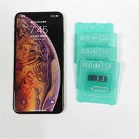 x sim para iphone 4s al por mayor-2019 nueva tarjeta iccid de desbloqueo rsim14 para iphone8 iphone7 iphone6 iphone xs max xr x iOS 12.x-7.x desbloqueo 4G rsim 14