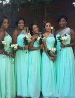 altında turkuaz nedime elbiseleri toptan satış-Vestido de festa Turkuaz Bir Omuz Uzun Gelinlik Modelleri Afrika Kat Uzunluk Sahil Düğün Törenlerinde Ucuz Altında 100