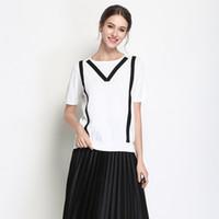 eec347c48122 Wholesale short dresses black winding for sale - Pop2019 Knitting European  Suit dress Round Neck Pullover