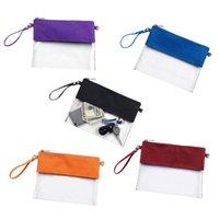 ingrosso borse in plastica in pvc-Tote Bag stadio chiaro borsa personalizzata in PVC trasparente Borsello in plastica trasparente della borsa donne pochette MMA2482-1