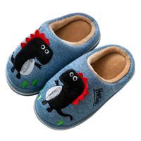 Wholesale kids slippers for girls resale online - Kids Slippers Winter Coral Velvet Cute Indoor Shoes for Baby Girls Boys Keep Warm Home Slipper Non Slip Soft Slippers