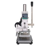 Wholesale marking printer resale online - Multi function stamping machine Hot stamping indentation Machine leather Wood Paper Marking Press Embossing pc