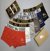 jugendliche schriftsätze großhandel-Europa Paris Fashion Brand Herren Unterhose Teenager Hip Hop Ritter Print Unterhose Boxer Briefs Großhandel BUR Unterwäsche