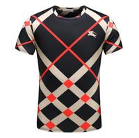 kuş tişörtü toptan satış-Fawn 2019 Avrupa İtalya Roma moda Marka ön ve arka baskı erkekler ve kadınlar Kısa kollu t-shirt ve eğlence yuvarlak boyun