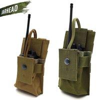 interphone zubehör großhandel-Military Outdoor Multifunktions Interphone Bag Taktische Weste Zubehör MOLLE System Gürteltasche # 250830