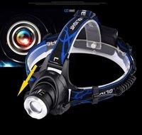 мощные xml-фонарики оптовых-Открытый 3000 фарах езды масштабируемого кемпинга яркого луча Lumen XML T6 High Power LED Фара Фара фонарик 3 Режимов