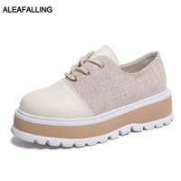 Wholesale cute lace up ankle boots resale online - Aleafalling Women Boots Lace Up Cute Simple Smart Shoes Girl s Soft Leather Buckle Fashion Patchwork Outdoor Street Boots WBT397