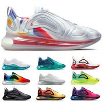 erkekler için hafif koşu ayakkabıları toptan satış-Nike Air Max 720 Tasarımcı VM Moc Artı Erkekler Kadınlar Koşu Ayakkabıları Üçlü Siyah Beyaz Sprite Kırmızı Buğday Pembe Ucuz Eğitmen Spor Sneaker Boyutu 36-45 Sıcak Satış