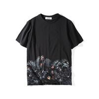 shirts tigre da moda venda por atacado-Luxo Mens Designer T Shirt Dos Homens de Roupas 3D Orangotangos Verão T Shirt Hip Hop Das Mulheres Dos Homens de Manga Curta Tamanho S-XXL