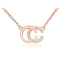 Wholesale men figaro gold resale online - Fashion Brand Designer Double Letters Necklace Gold Tone Necklace For Women Men Wedding Party Jewelry Gift