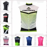 Wholesale merida cycle tops for sale - 2019 NEW MERIDA team Cycling Sleeveless jersey Vest men summer Quick Dry Racing Bicycle ropa ciclismo cycling clothing